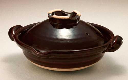 土楽 口付黒鍋