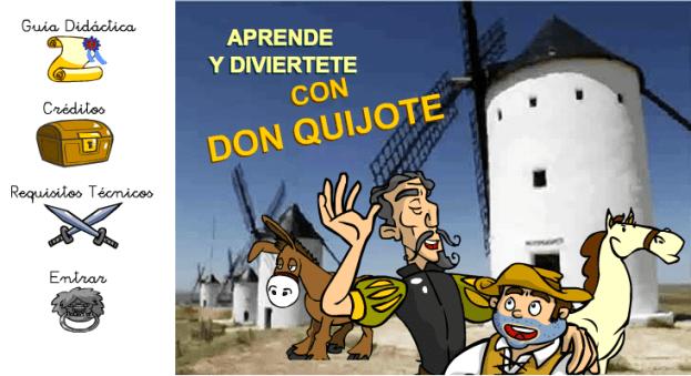 prende y diviertete con el quijote