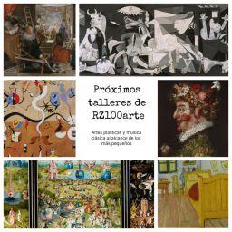 PRÓXIMOS TALLERES de RZ100arte en la Comunidad de Madrid (último trimestre 2018)
