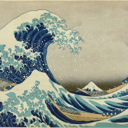 Arte en familia desde el salón: La gran Ola de Hokusai