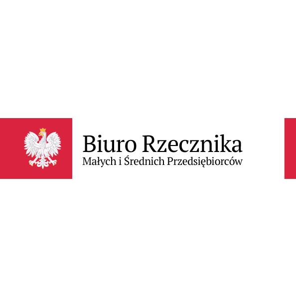 Logo Biura Rzecznika Samodzielny Organ Ochrony Prawa Orzeł w Koronie na czerwonym tle