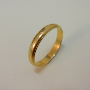 Before: Half Round Wedding Band, 14K Yellow Gold
