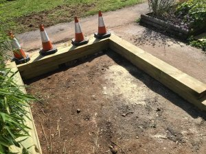 Railway Sleeper Landscaping Cornwall Contractors (2)