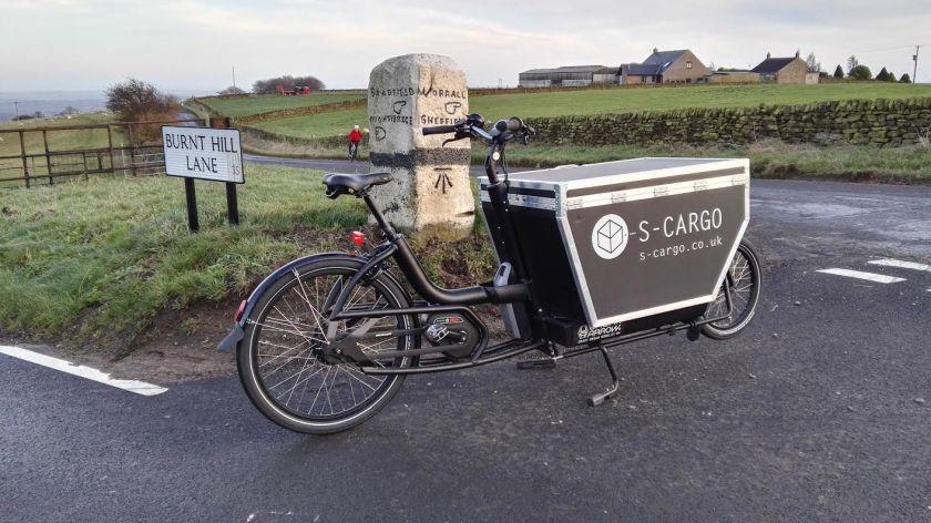 S-cargo bike in the Peak District