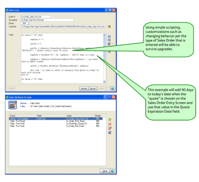 business objects interface