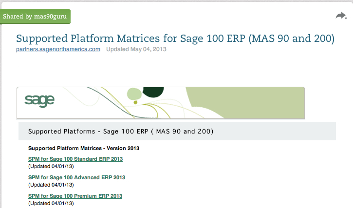 sage supported platforms