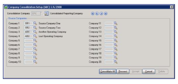 company consolidation sage 100