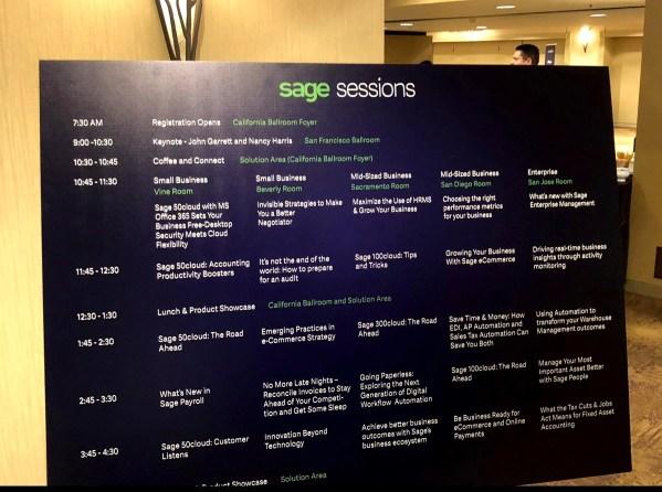 Sage sessions la agenda