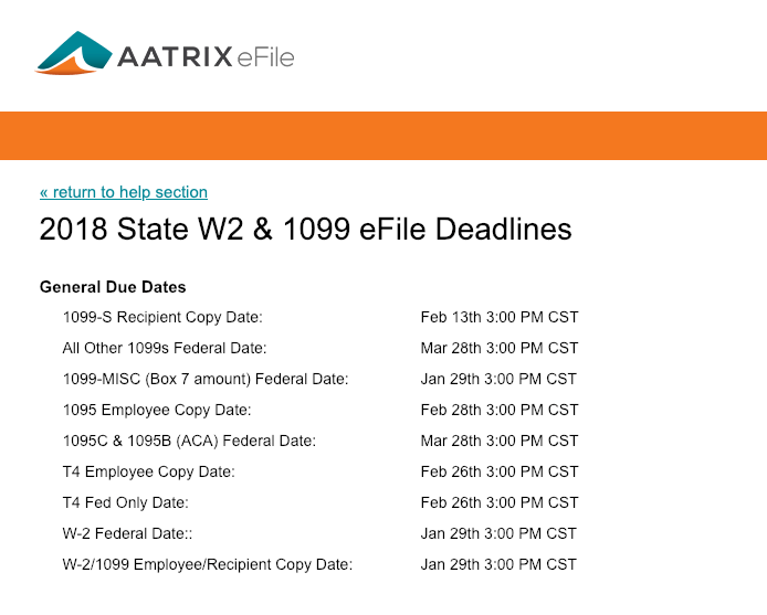 Sage 100cloud Efiling Deadlines For 1099 And W 2