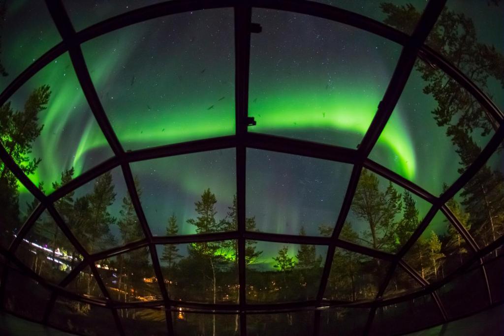 Slapen in een iglo in Fins lapland.
