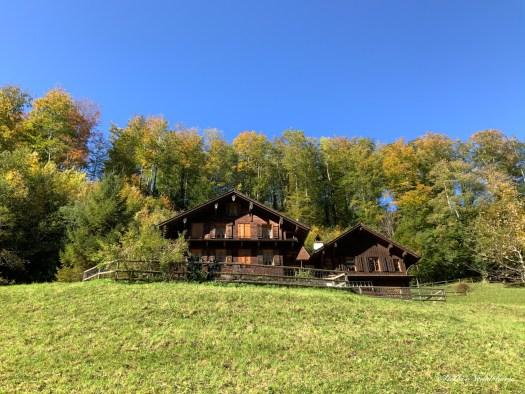 Chalet dans les Alpes suisses