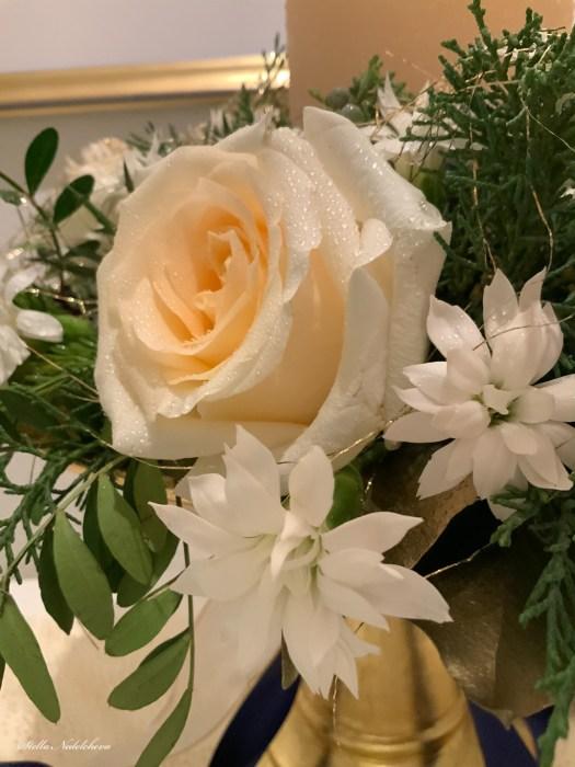 Décoration florale de Noël