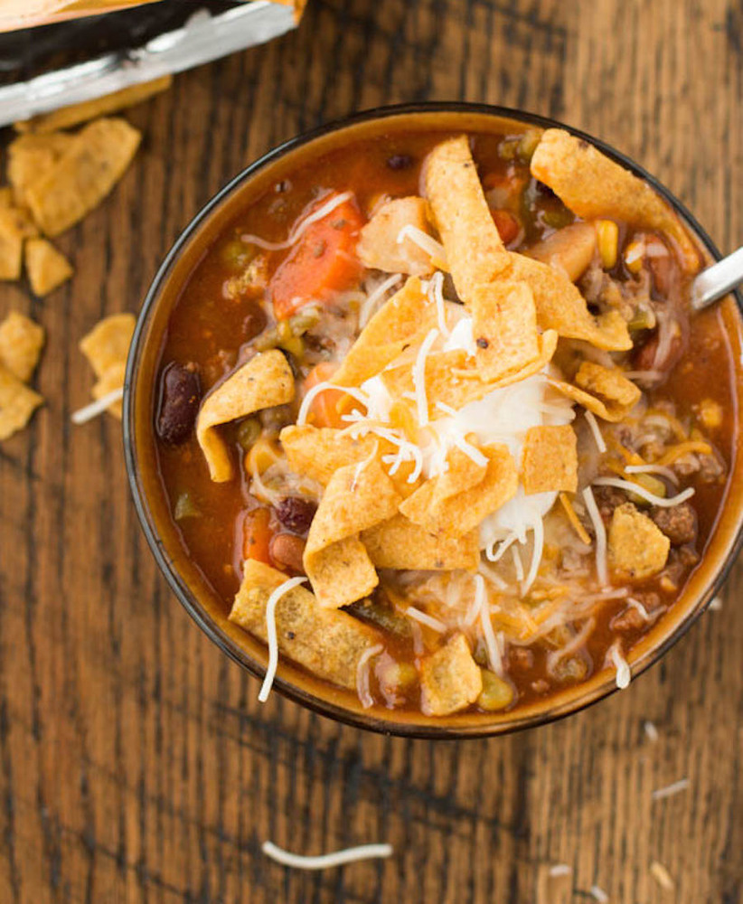 "<strong>Get the <a href=""http://www.ohsweetbasil.com/2014/01/taco-stew.html"" target=""_blank"">Taco Stew recipe</a> from Oh Swe"