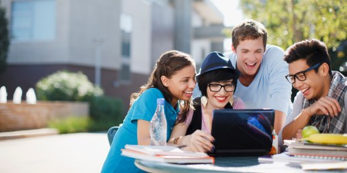 Image result for happy college students