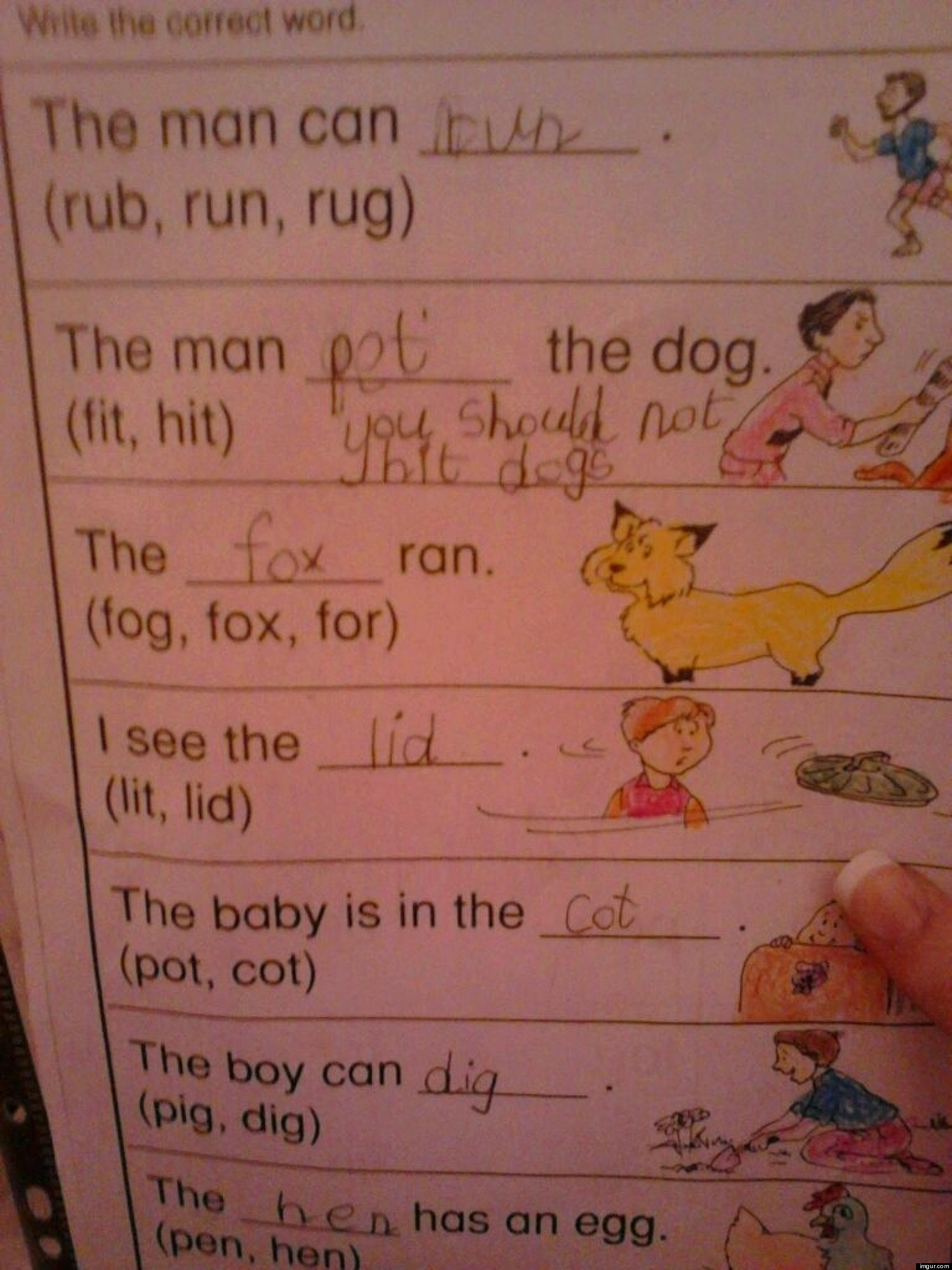Cute Kid Note Of The Day You Should Not Hit Dogs