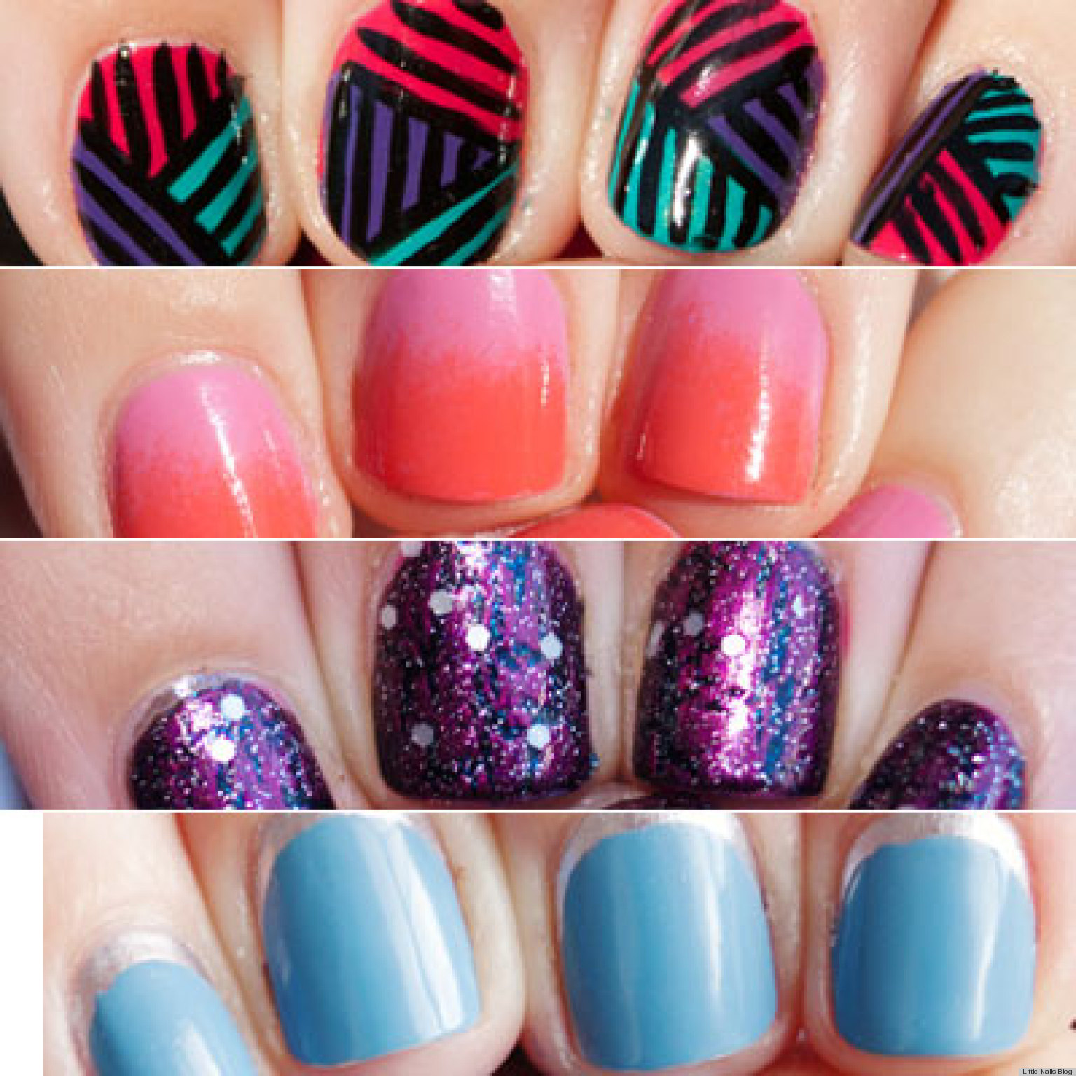 13 Nail Art Ideas For Y Tiny Finger Photos Huffpost Designs Short Nails