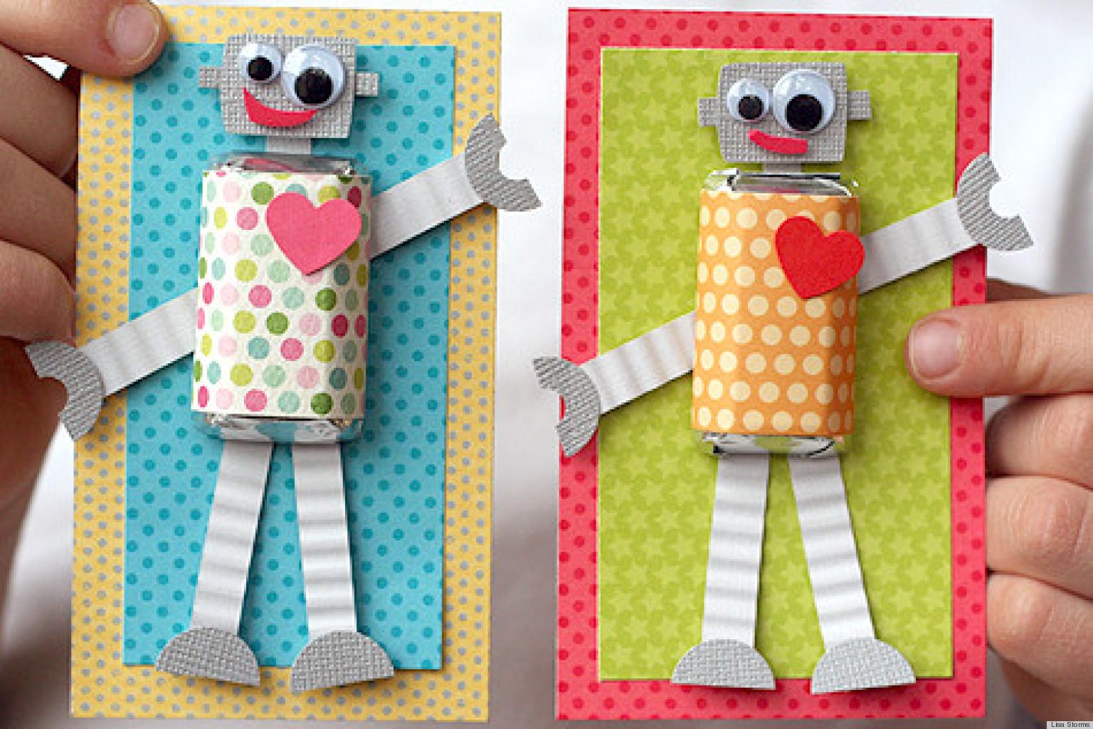 Preschool Valentine Craft Dad