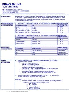 company secretary best resume format and secretary on pinterest