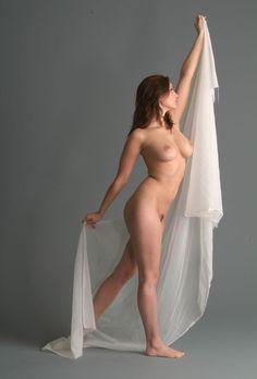 nude female model red hair