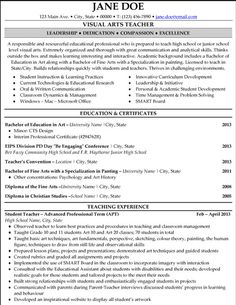 resume teacher resumes and elementary teacher on pinterest