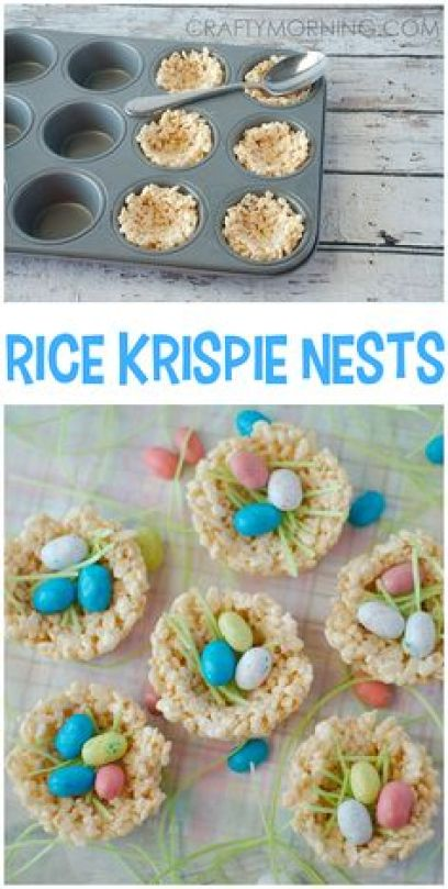 Rice krispie nests - such a cute easter treat/dessert idea for the kids!