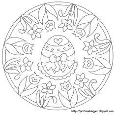 Osterei Mandala 1 Malvorlagen Pinterest Ostern