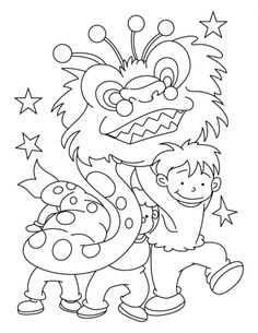 1000 images about chinese new year coloring pages on pinterest