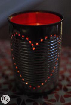 DIY. Tin can candle