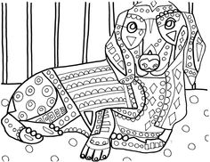 dachshund coloring and coloring pages on pinterest