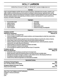 firefighter resume resume examples and resume on pinterest