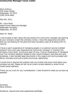 nurse manager cover letter the example shows how to write a