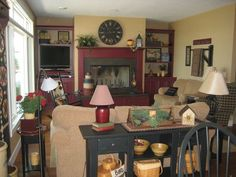 Image Detail For Our Country Primitive Home Living Room