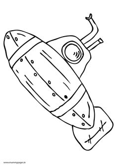 free watercraft submarine coloring page for happy submarine
