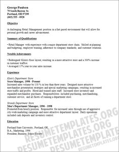 resume examples retail and retail stores on pinterest