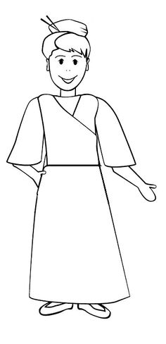 color your own flat lottie moon and have her visit your church or