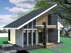 Desain Rumah Atap Miring 1 Lantai Kreasi Rumah