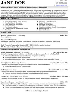 resume templates accounting and resume on pinterest