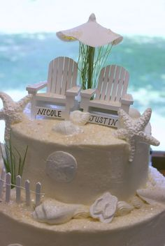 Cupcakes Cakes Beach Theme Wedding
