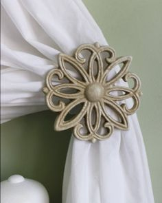 Metal Curtain Tie Back Set Cast Iron Victorian By Thechicdecor Hey I Found This Really Awesome Listing At Http Www