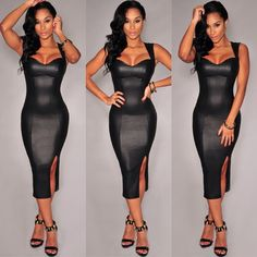 Image result for pleather dress