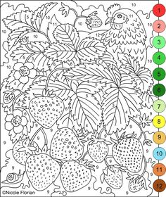 1000 images about color by number for adults and children on
