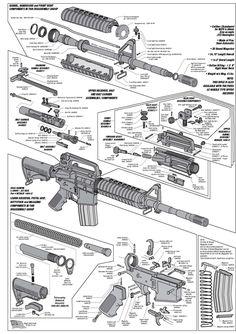 AR15 Exploded Parts Diagram | AR15 Parts List | steve's stuff | Pinterest