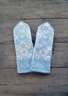 Knit Wool Mittens  N