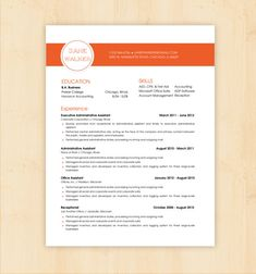 resume resume templates and resume design on pinterest