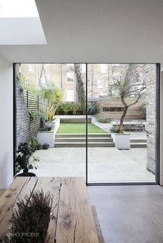 Urban garden with bu