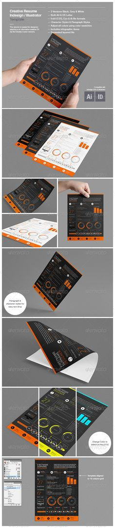 creative resume template graphicriver features this template was