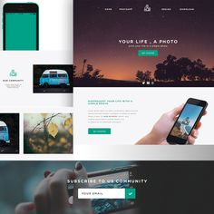 one page website first page and psd templates on pinterest