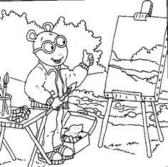 arthur color page dibujos arthur pinterest cartoon