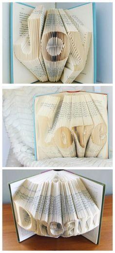 Folded Book Art DIY