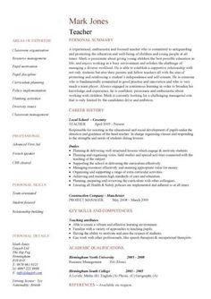 teacher resumes teacher resume template and resume on pinterest
